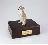 Gray Whippet Dog Figurine Pet Cremation Urn - 245