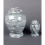 Gray & White Marble Cremation Urn