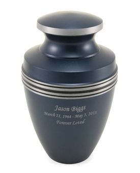 Grecian Blue Cremation Urn - Engravable