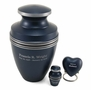 Grecian Blue Keepsake Cremation Urn - Engravable