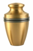 Grecian Bronze Brass Cremation Urn - Engravable