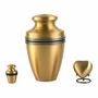 Grecian Bronze Heart Brass Keepsake Cremation Urn - Engravable