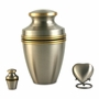 Grecian Pewter Heart Brass Keepsake Cremation Urn - Engravable