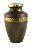 Grecian Rustic Bronze Brass Cremation Urn - Engravable