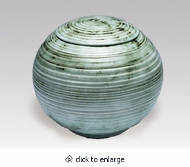 Green Sfera Porcelain Cremation Urn