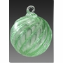 Green Timeless Sphere Cremains Encased in Glass Cremation Ornament