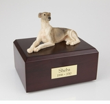 Greyhound Dog Figurine Pet Cremation Urn - 117