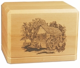 Gristmill Classic Maple Wood Cremation Urn
