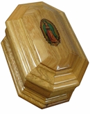 Guadalupe Cremation Urn in Oak