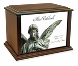Guardian Angel Eternal Reflections Wood Cremation Urn - 4 Sizes