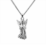 Guardian Angel Sterling Silver Cremation Jewelry Necklace