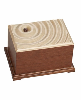 Halia Memory Stone Dimensional Bubinga and Maple Wood Cremation Urn