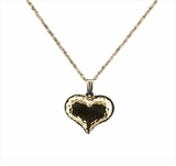 Hammered Heart 14kt Gold Cremation Jewelry Necklace