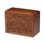 Hand-Carved Tree Of Life Rosewood Wood Cremation Urn - Extra Large