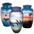 Hand-Painted Cremation Urns