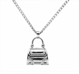 Handbag Sterling Silver Cremation Jewelry Necklace