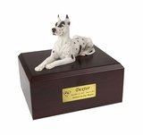 Harlequin Great Dane Dog Figurine Pet Cremation Urn - 114