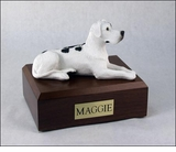 Harlequin Great Dane Dog Figurine Pet Cremation Urn - 1241