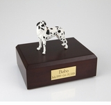 Harlequin Great Dane Dog Figurine Pet Cremation Urn - 728