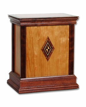 Harmony Cherry Hardwood Handcrafted Cremation Urn by WoodMiller