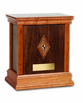 Harmony Walnut Hardwood Handcrafted Cremation Urn by WoodMiller