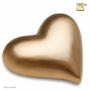 Heart Brushed Gold Keepsake Cremation Urn