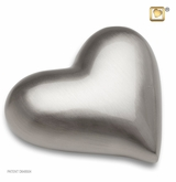 Heart Brushed Pewter Keepsake Cremation Urn