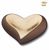 Heart Hammered Gold Keepsake Cremation Urn