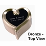 Heart Keepsake Set - Bronze - Engravable