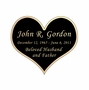 Heart Nameplate - Engraved Black and Tan - 2-3/4  x  2-3/8
