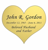 Heart Nameplate - Engraved - Gold - 3-1/2  x  3