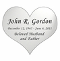 Heart Nameplate - Engraved - Silver - 3-1/2  x  3