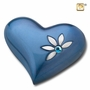 Heart Nirvana Azure Keepsake Cremation Urn