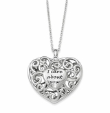 Heart of Support Antiqued Sterling Silver Memorial Jewelry Pendant