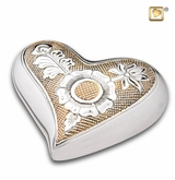 Heart Ornate Floral Keepsake Cremation Urn