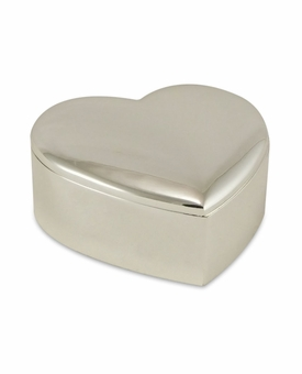 Heart Silver Plated Keepsake Cremation Urn