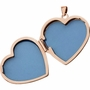 Heart Simplicity 14k Rose Gold Memorial Locket Jewelry Necklace
