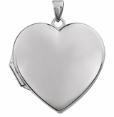 Heart Simplicity 14k White Gold Memorial Locket Jewelry Necklace