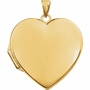 Heart Simplicity 14k Yellow Gold Memorial Locket Jewelry Necklace