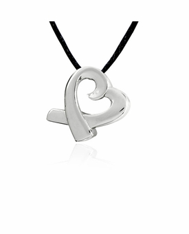 Heart Slider Stainless Steel Cremation Jewelry Pendant Necklace