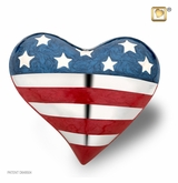 Heart Stars and Stripes Keepsake Cremation Urn