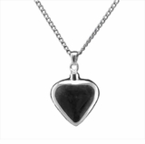 Heart Sterling Silver Cremation Jewelry Necklace