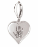 Heart Thumbies 3D Fingerprint Sterling Silver Keepsake Memorial Earrings
