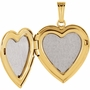 Heart with Diamond 14k Yellow Gold Memorial Locket Jewelry Necklace