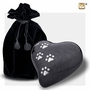 Heart with Paw Prints Pearlescent Midnight Pet Large Cremation Urn