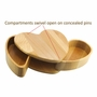 Heart with Pivoting Compartments Maple Wood Keepsake Box
