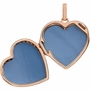 Heart with Rope Border 14k Rose Gold Memorial Locket Jewelry Necklace