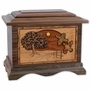 Heartland Quail with 3D Inlay Walnut Wood Cremation Urn