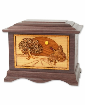 Heartland Turkey with 3D Inlay Walnut Wood Cremation Urn