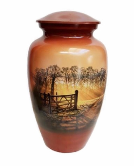 Heaven's Gate Picture Cremation Urn